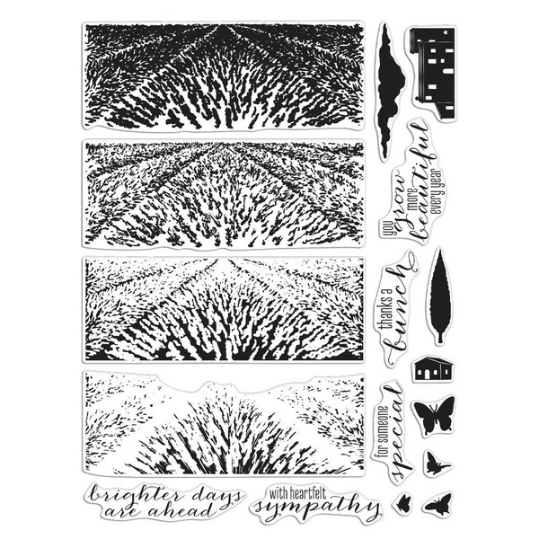 Lavender Field Heroscape, Hero Arts Clear Stamps - 857009247888