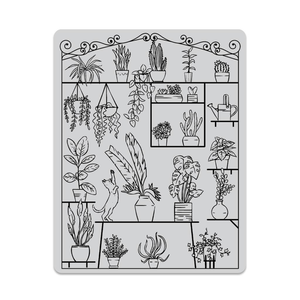 Greenhouse Peek-A-Boo, Hero Arts Cling Stamps - 857009248632