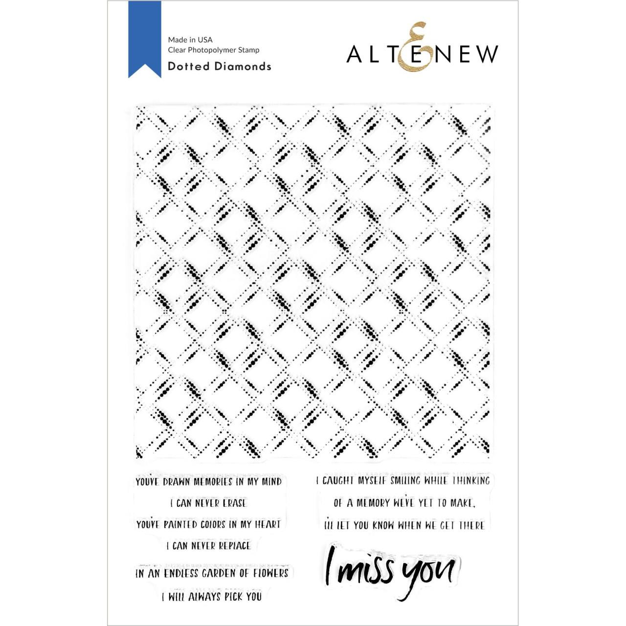 Dotted Diamonds, Altenew Clear Stamps - 737787257579
