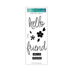 Friendly Hello, Concord & 9th Clear Stamps - 090222400931