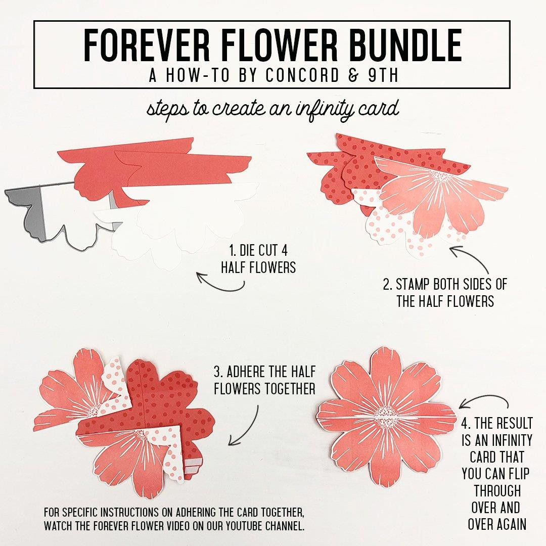 Forever Flower, Concord & 9th Clear Stamps - 090222401396
