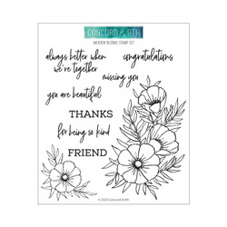 Meadow Blossoms, Concord & 9th Clear Stamps - 090222401419