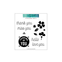 Stitched Blooms, Concord & 9th Clear Stamps - 090222401457