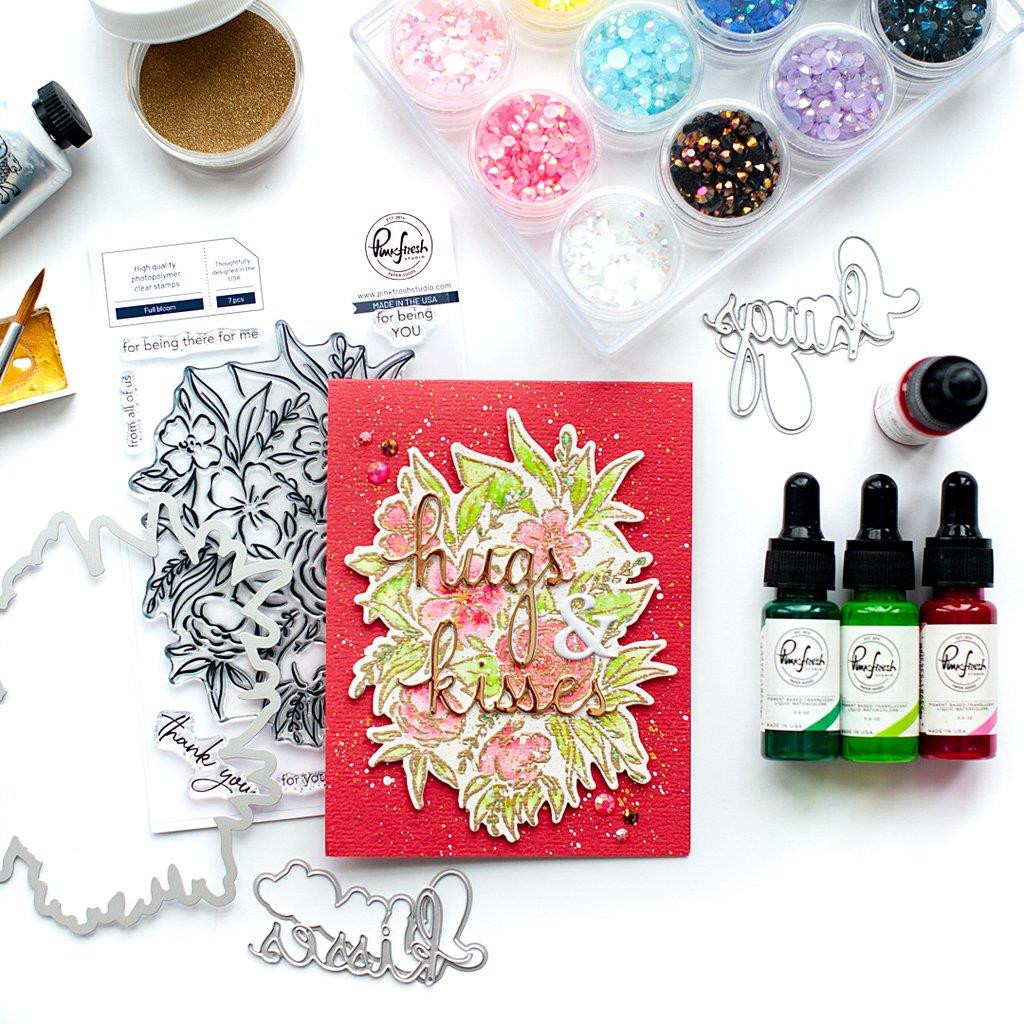 Full Bloom, Pinkfresh Studio Clear Stamps - 782150204506