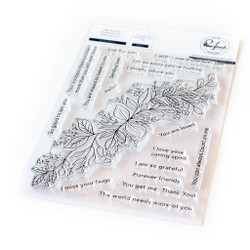 Leafy Decor, Pinkfresh Studio Clear Stamps - 782150204520