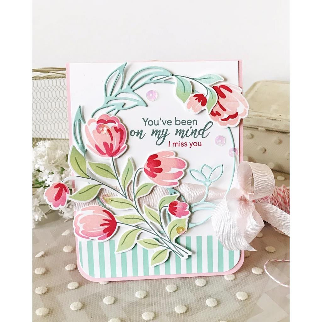 Layered Bouquet, Pinkfresh Studio Clear Stamps - 782150204568