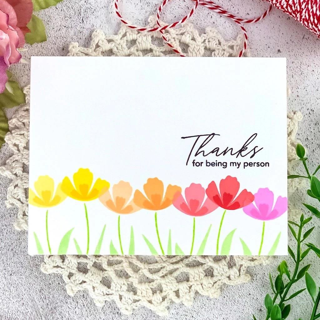 Simple Blossoms, Pinkfresh Studio Clear Stamps - 782150204605