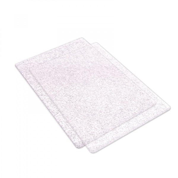 Sizzix Standard Cutting Pads set of 2, Clear with Silver Glitter -