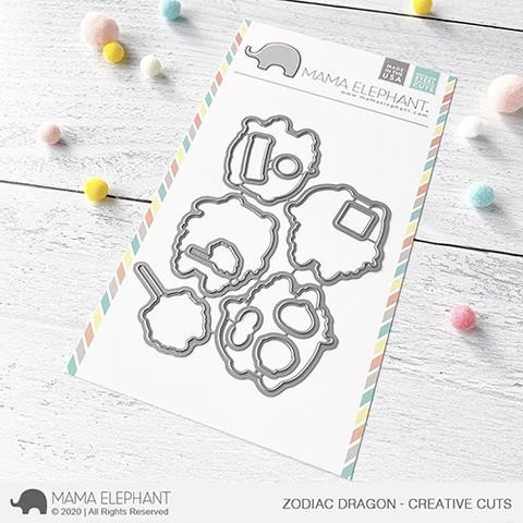 Zodiac Dragon, Mama Elephant Creative Cuts -