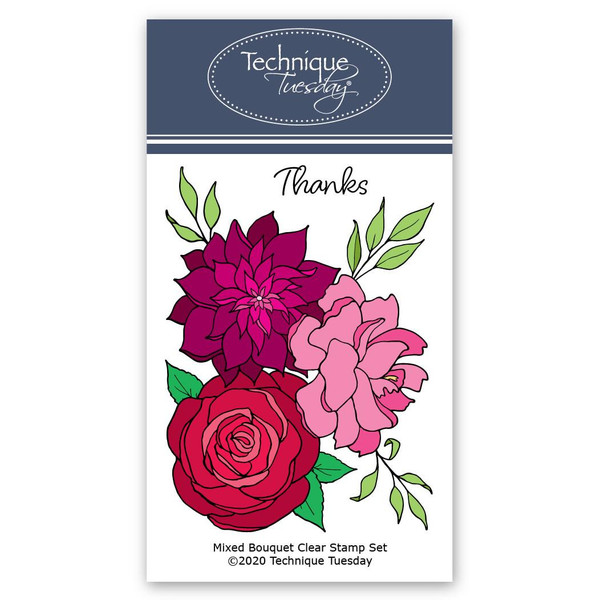 Mixed Flower Bouquet, Technique Tuesday Clear Stamps - 811784028278