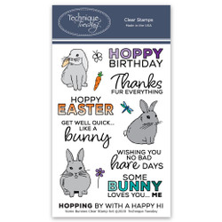 Some Bunnies, Technique Tuesday Clear Stamps - 811784028292
