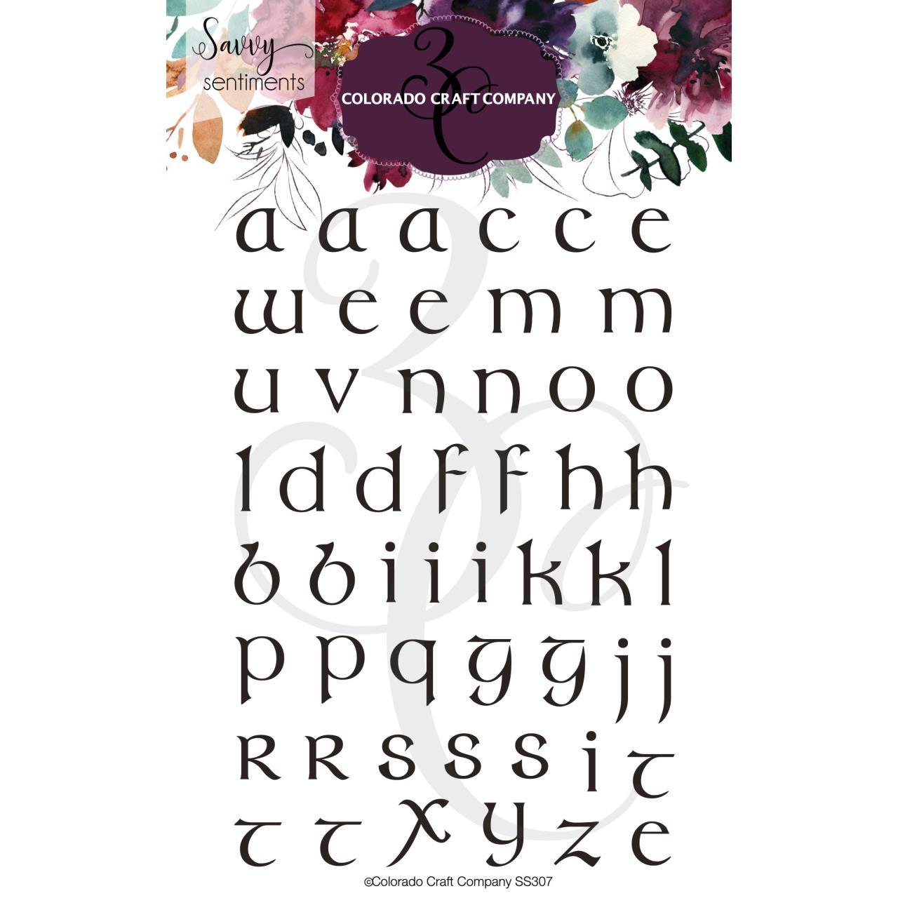Celtic Lowercase, Colorado Craft Company Clear Stamps - 810043853071