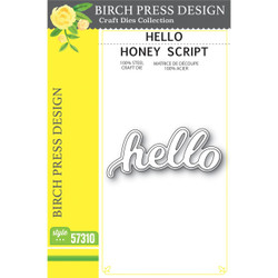 Hello Honey Script, Birch Press Design Dies - 873980573105