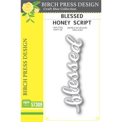 Blessed Honey Script, Birch Press Design Dies - 873980573099