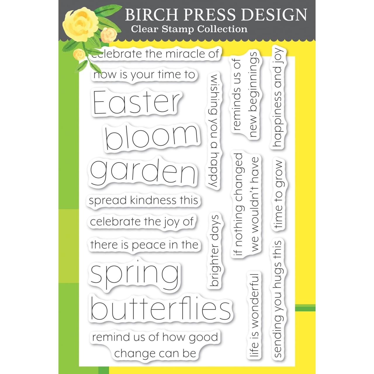 Blooming Spring, Birch Press Design Clear Stamps -