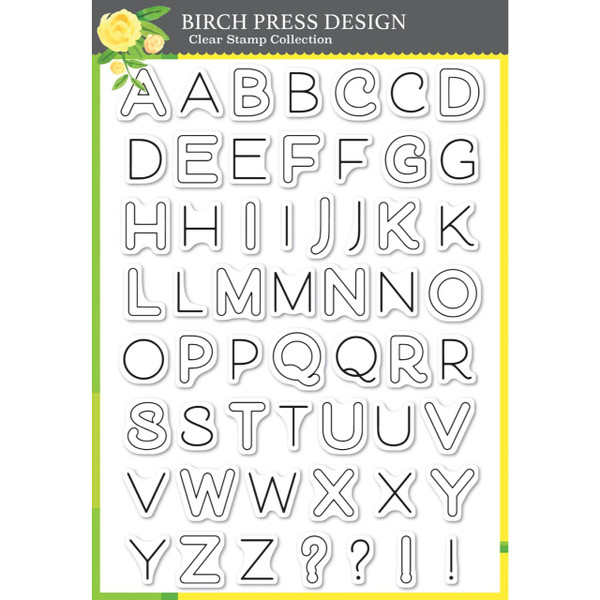 Mod Alphabet, Birch Press Design Clear Stamps - 873980081396