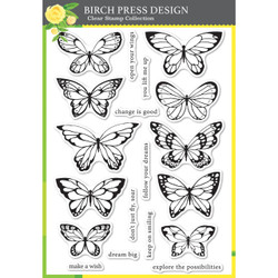 Lovely Butterflies, Birch Press Design Clear Stamps -