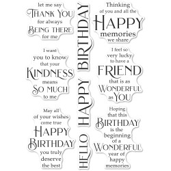 Friendship and Kindness, Poppystamps Clear Stamps -