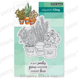 Herb Garden, Penny Black Cling Stamps - 759668407361
