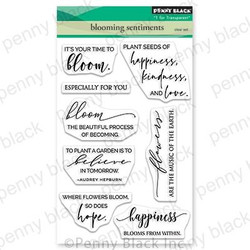 Blooming Sentiments, Penny Black Clear Stamps - 759668307036