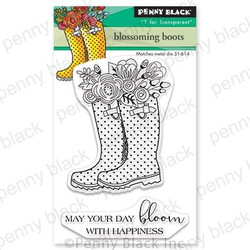 Blossoming Boots, Penny Black Clear Stamps - 759668306862
