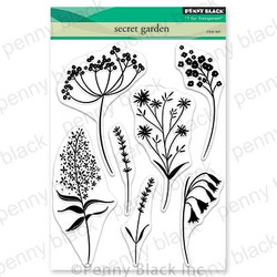 Secret Garden, Penny Black Clear Stamps - 759668306824