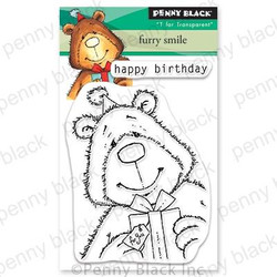 Furry Smile, Penny Black Clear Stamps - 759668306787