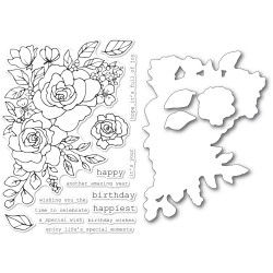 Birthday Rose Corner, Memory Box Stamp & Die Set -