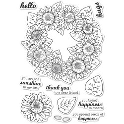 Sunflower Wreath, Memory Box Clear Stamps -