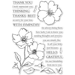 Wild Rose Stem, Memory Box Clear Stamps -