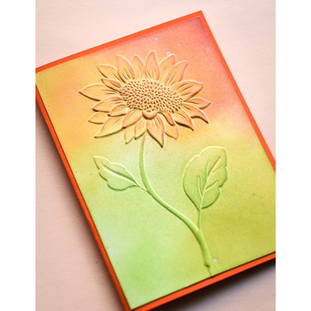Magnificent Sunflower 3D, Memory Box Embossing Folder - 873980310083