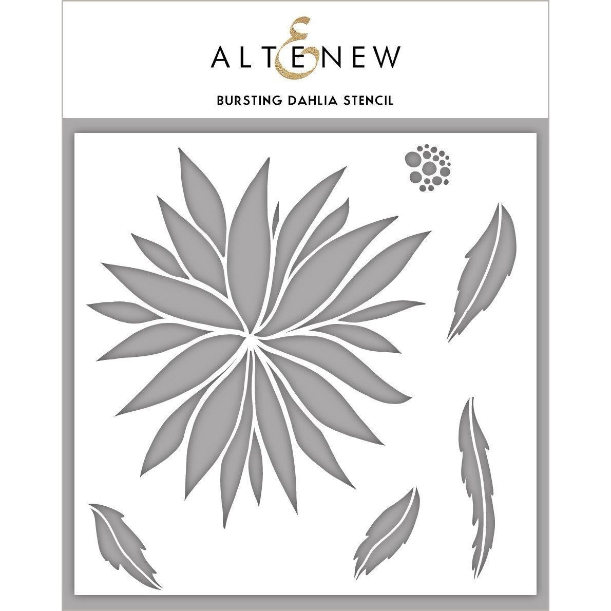 Bursting Dahlia, Altenew Stencils - 737787261897