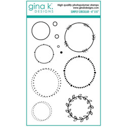 Simply Circular, Gina K Designs Clear Stamps - 609015526361