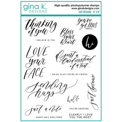 Just Because, Gina K Designs Clear Stamps - 609015526385