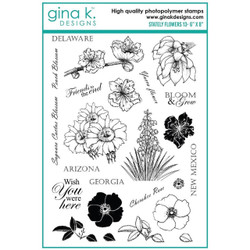 Stately Flowers 13, Gina K Designs Clear Stamps - 609015526354