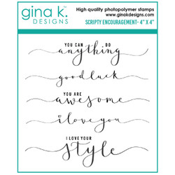 Scripty Encouragement, Gina K Designs Clear Stamps - 609015526408