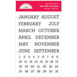 Calendar - Typewriter, Doodlebug Clear Stamps - 842715067301