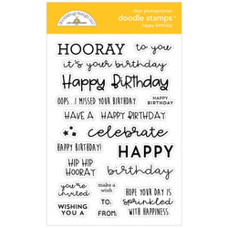 Happy Birthday, Doodlebug Clear Stamps - 842715067325