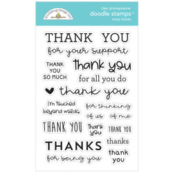 Many Thanks, Doodlebug Clear Stamps - 842715067349