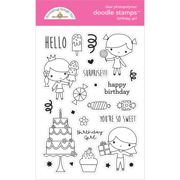Birthday Girl, Doodlebug Clear Stamps - 842715066465
