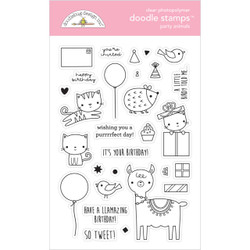 Party Animals - Girl, Doodlebug Clear Stamps - 842715066489