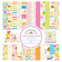 Hey Cupcake, Doodlebug 12 X 12 Paper Pack - 842715066908