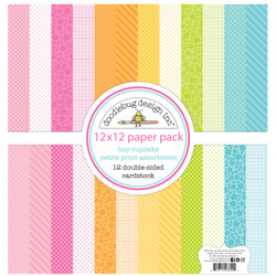 Hey Cupcake Petite Print Assortment, Doodlebug 12 X 12 Paper Pack - 842715066922