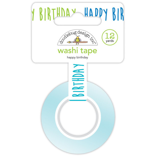 Happy Birthday, Doodlebug Washi Tape - 842715066175