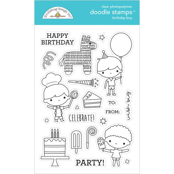 Birthday Boy, Doodlebug Clear Stamps - 842715066502