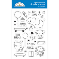 Party Animals - Boy, Doodlebug Clear Stamps - 842715066526