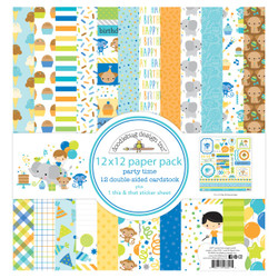 Party Time, Doodlebug 12 X 12 Paper Pack - 842715066915