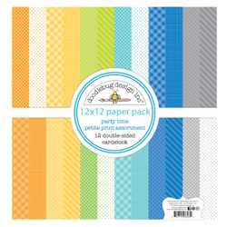 Party Time Petite Print Assortment, Doodlebug 12 X 12 Paper Pack - 842715066939