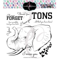 Love You Tons, Colorado Craft Company Clear Stamps - 810043853002