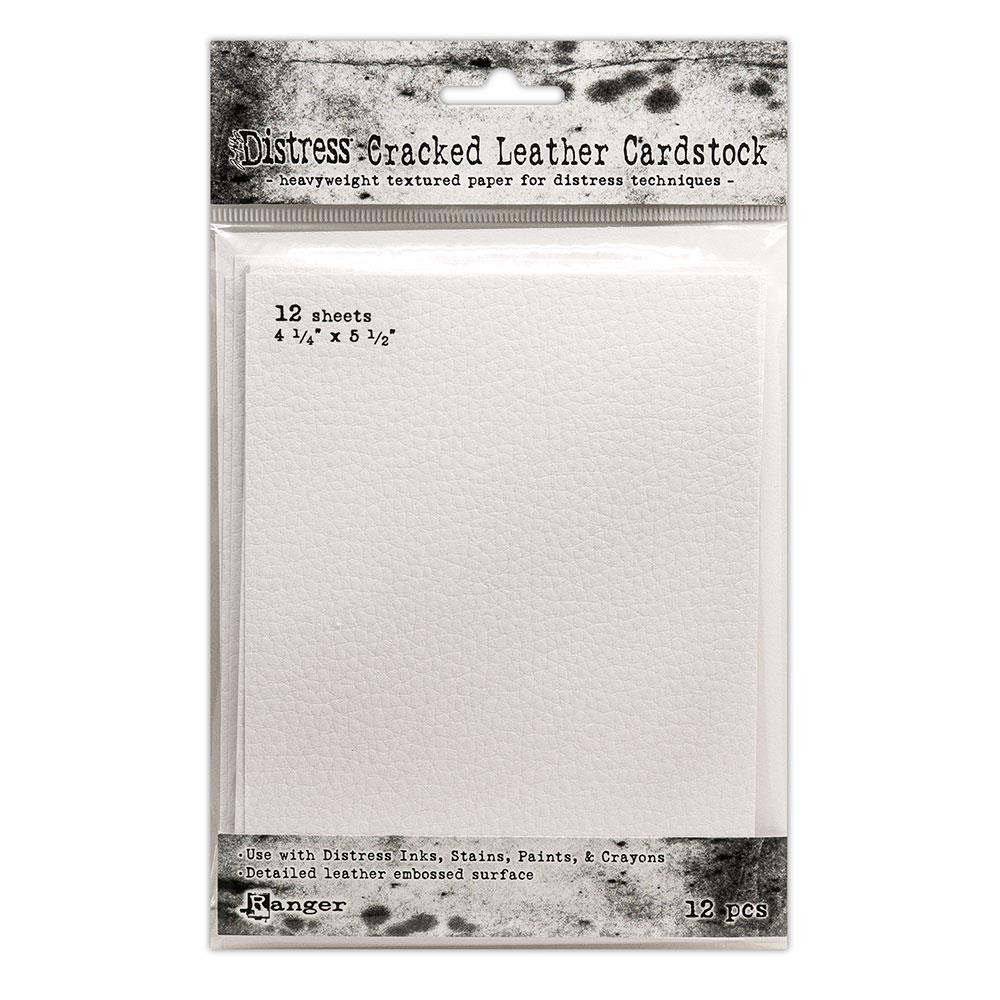 Cracked Leather 4.25 X 5.5, Ranger Distress Cardstock - 789541071310